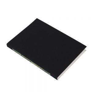 Black A5 notebook multicolour stiching