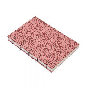 Red Patterned A5 Sketchbook