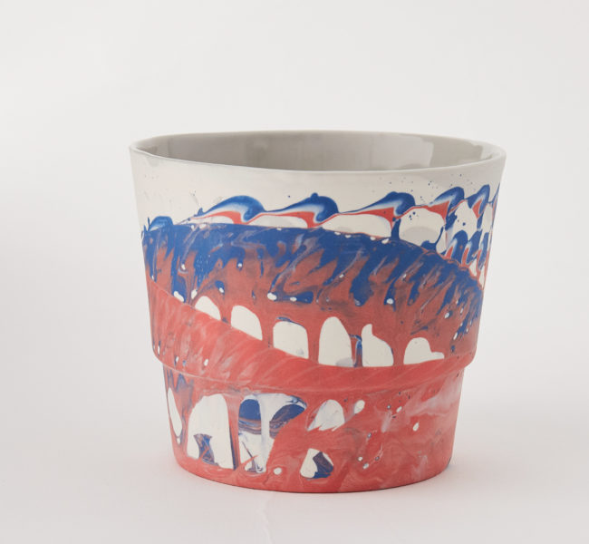 Ceramic cup.