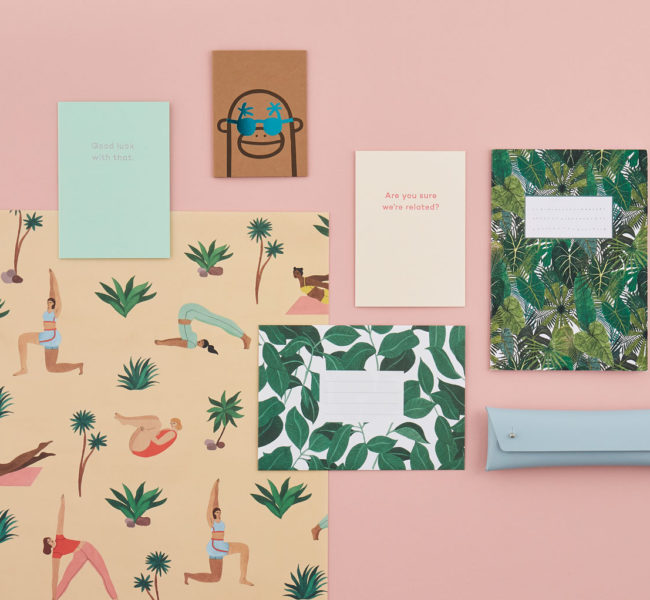 A selection of stationary sold at not just a shop