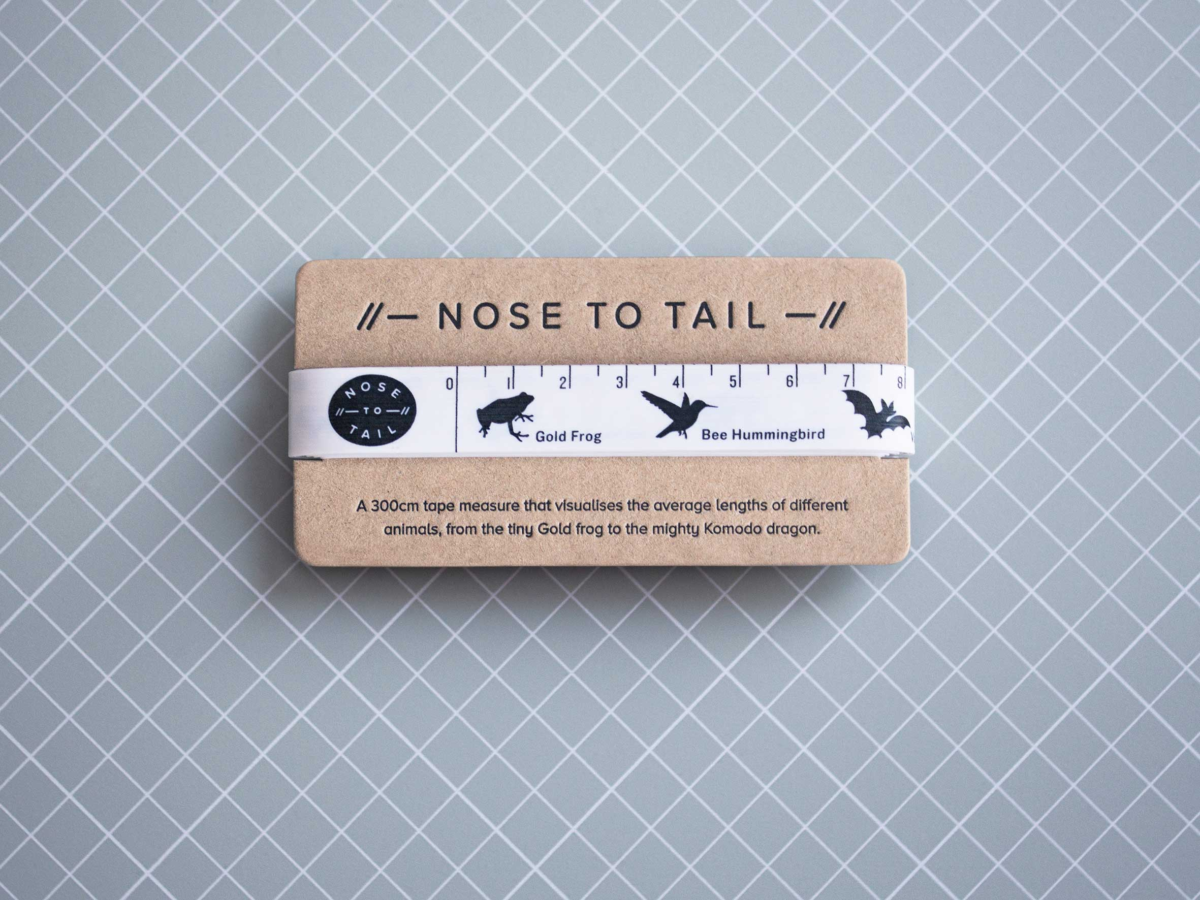 Nose to tail measuring tape.