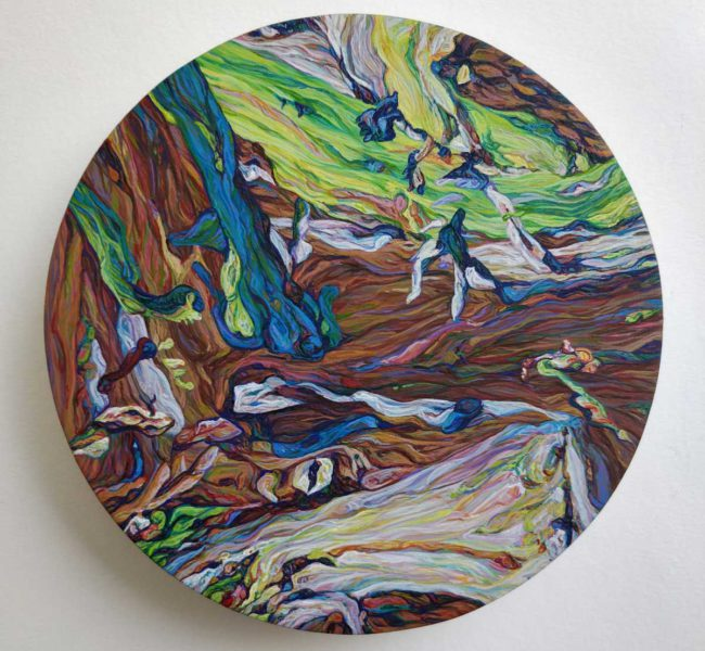 Becky Hanney painting called Marbleveins