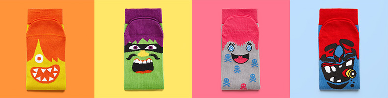 Four pairs of Chatty Feet socks