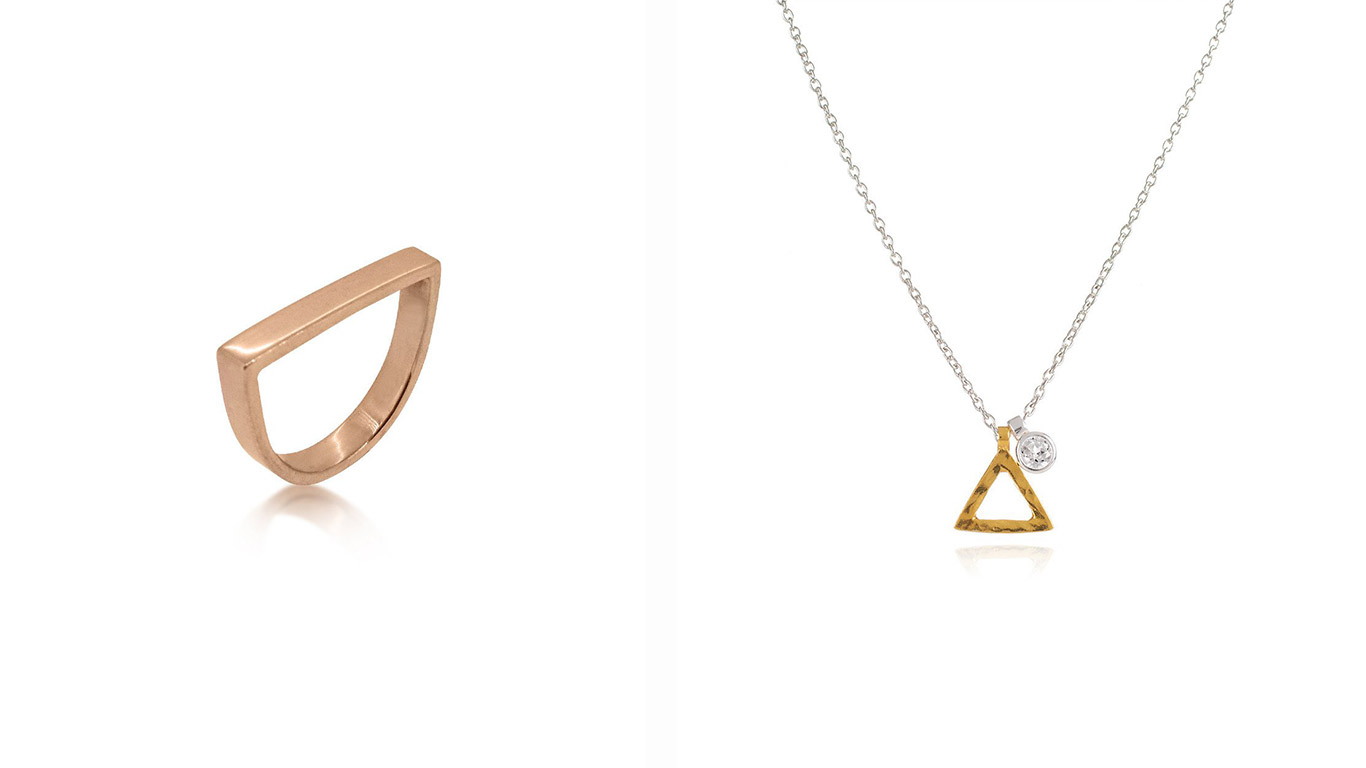 Left: Ring. Right: Necklace.