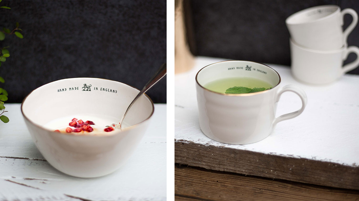 Emma Alington ceramic bowl and cups