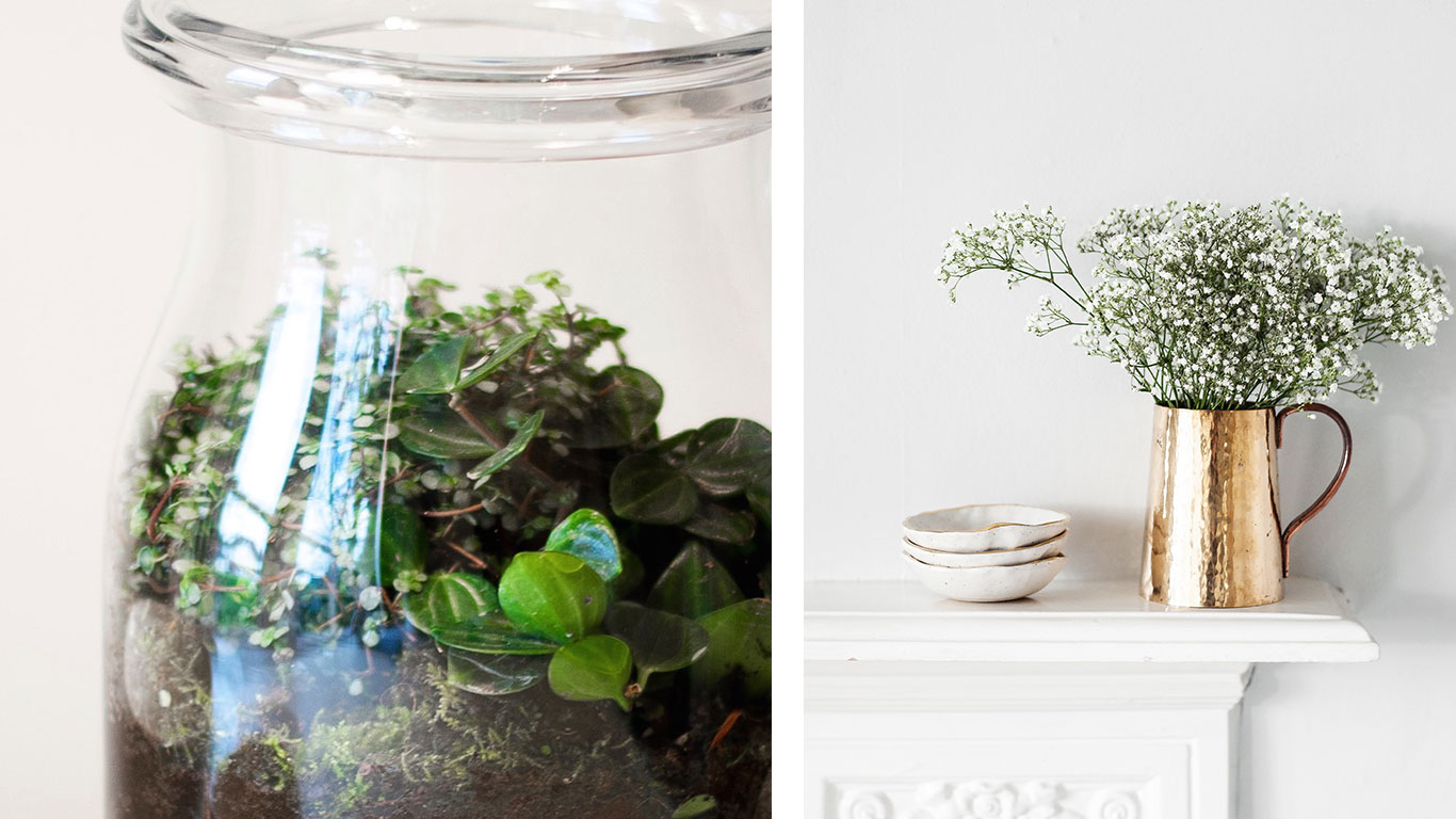 Emma Alington jar and ceramic bowls.