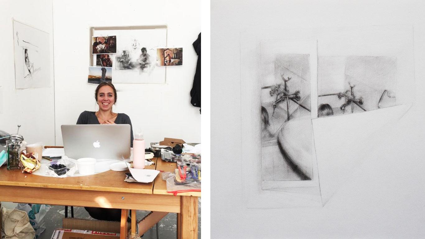 Isabel Bonafe in her studio