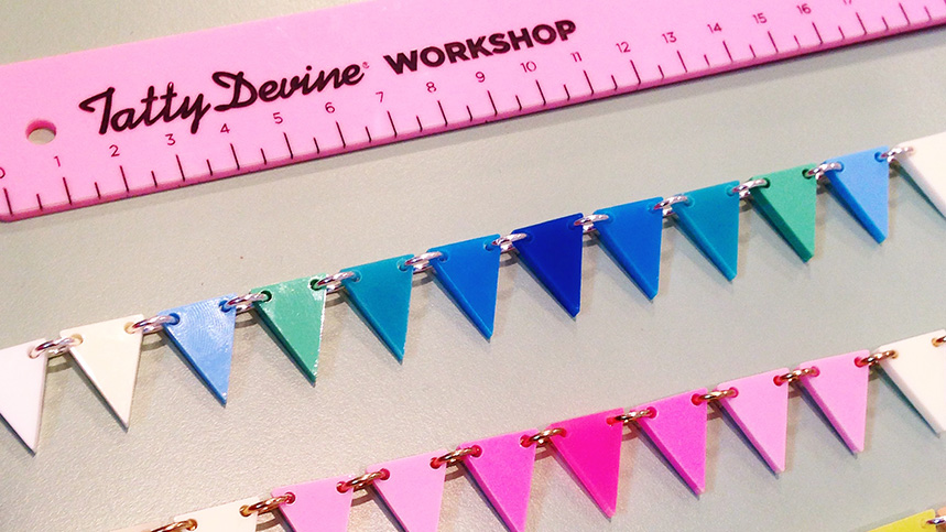 jewellery workshop with Tatty Devine