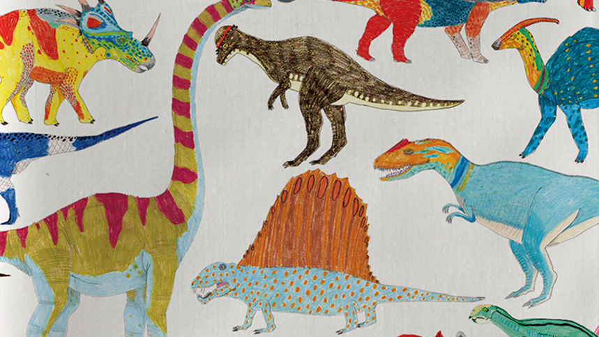 James Barker dinosaur print