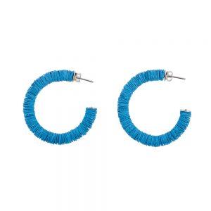 Blue hoop 'Helen' earrings