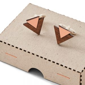 Copper and brown cufflinks
