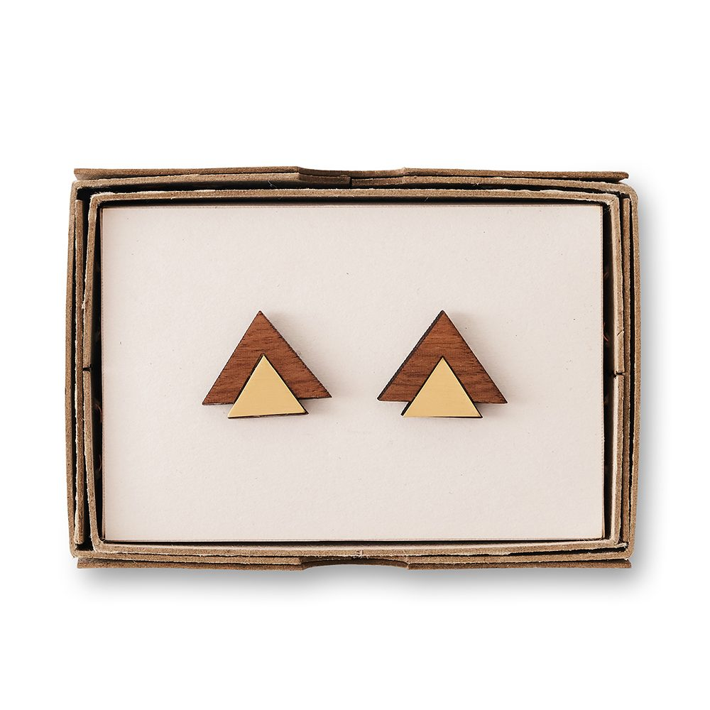 Gold and brown cufflinks