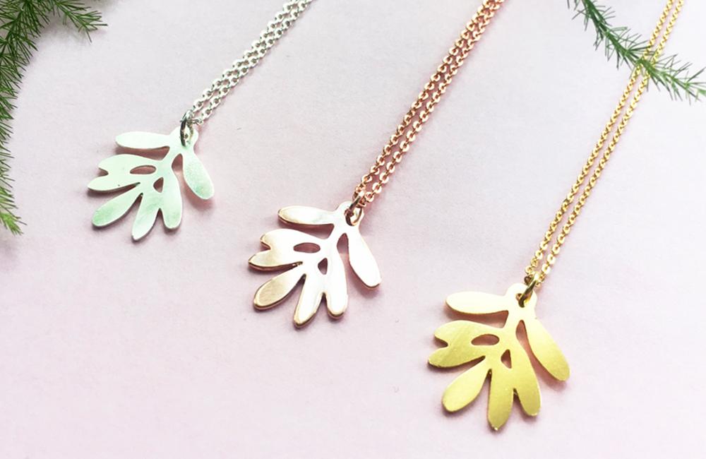 BOSKE olive leaf necklace trio header image