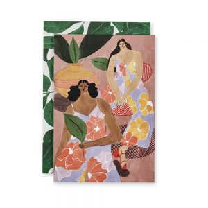 Beautiful Greeting Cards - Floral Girls design