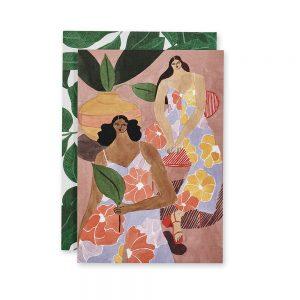 Beautiful Greeting Cards - Floral Girls design