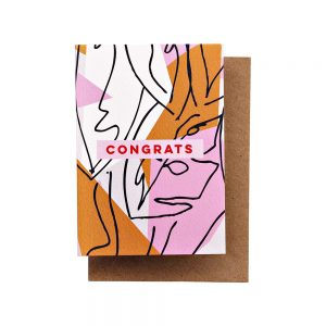 Botanic Congrats greetings card