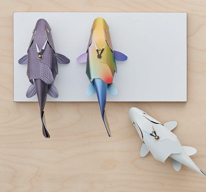 Three fish clocks