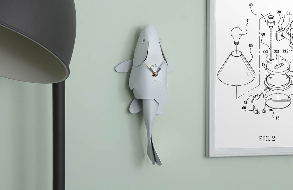 Bonito white fish clock header image