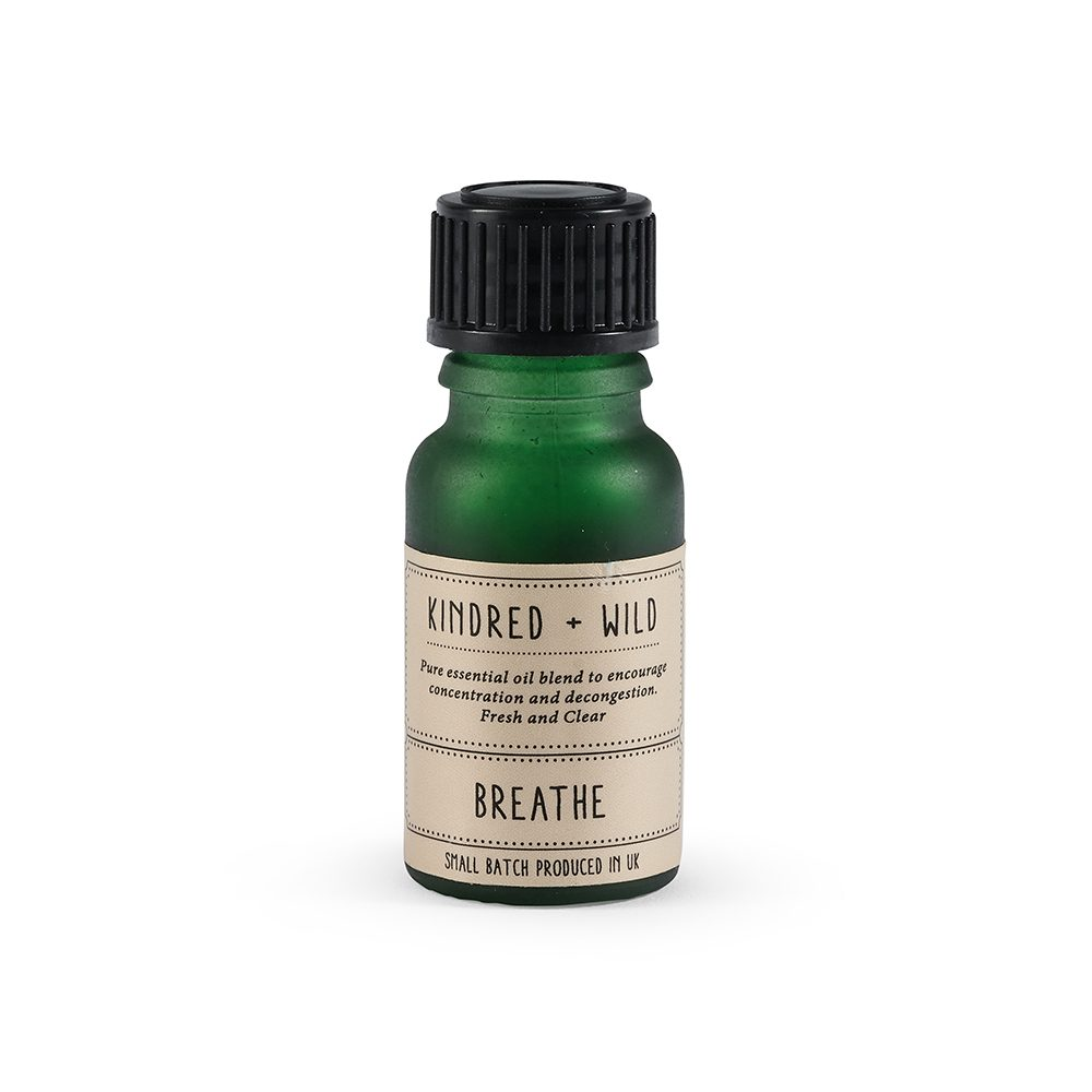 Small green bottle with essential oil