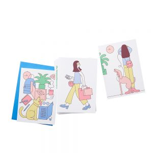 Cool stationery - illustrated card seT