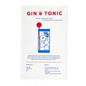 Cool tea towels Gin and Tonic
