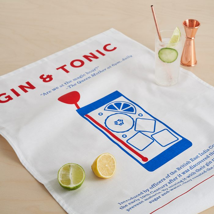 Cool tea towels Gin and Tonic lifestyle