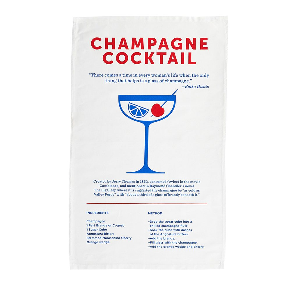 Cool tea towels champagne cocktail