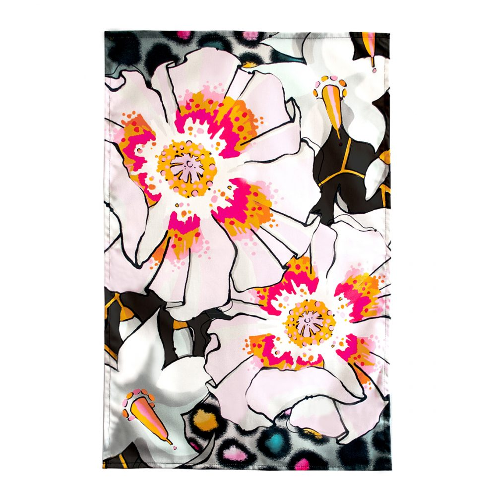 Cool tea towels - deadly blooms pattern