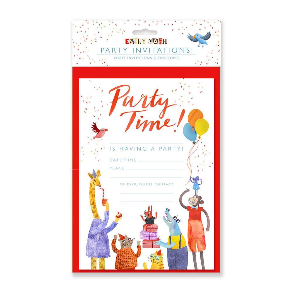 Creative stationary animal party invites