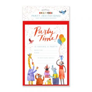 Creative stationary animal party invites