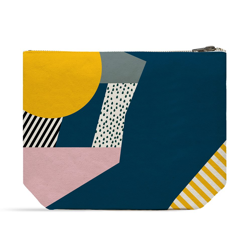Graphic print wash bag by Keeler and Sidaway