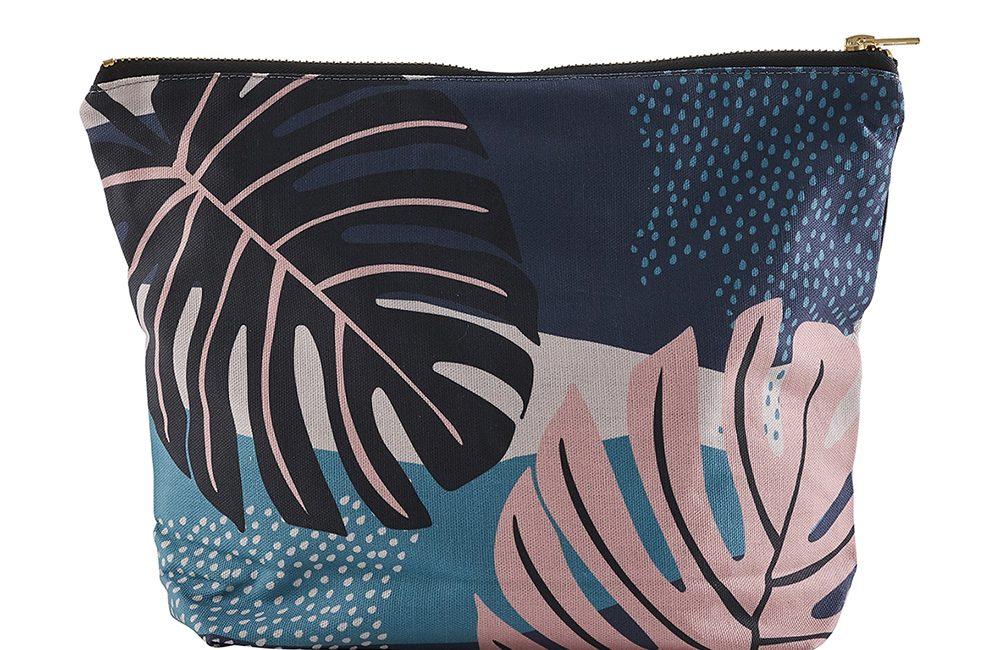 Leaf print wash bag by Keeler and Sidaway