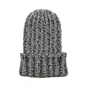 Winter wooly hats - black alpaca wool beanie hat