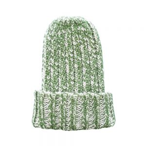 Winter wooly hats - green alpaca wool beanie hat