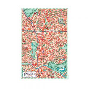 Home wall art - illustrated map of Hackney