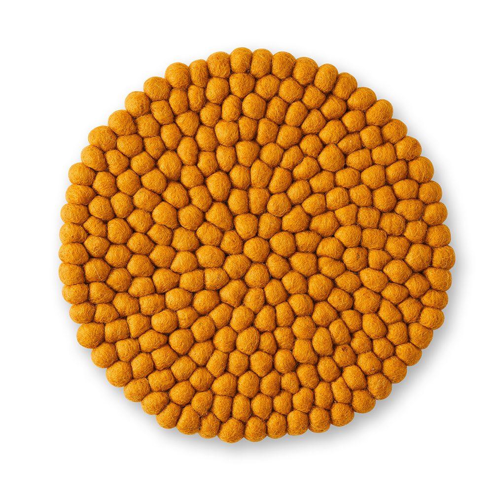 Mustard felt table mat
