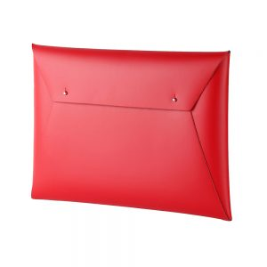 Stationery gifts - recycled leather document case red