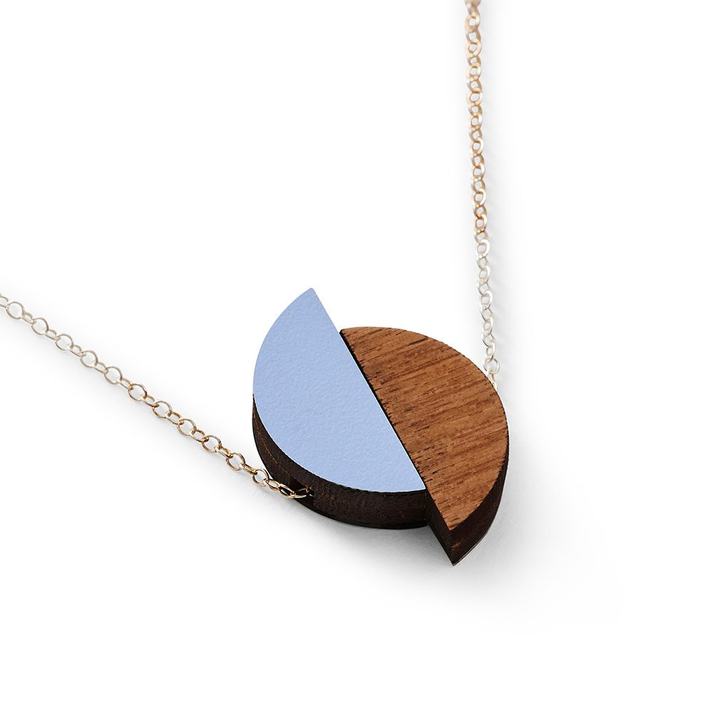 Unique necklaces - geometric pale blue necklace