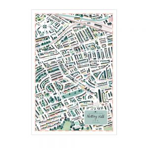 Notting Hill Map by Clare Owen