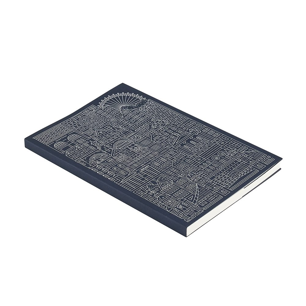 Luxury notebooks - UAL exclusive London foiled notebook