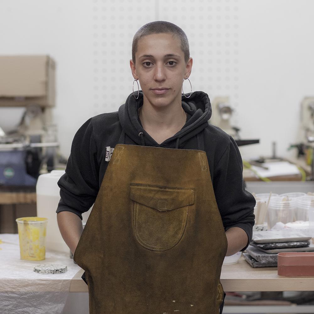 Photo of designer maker Daniela Rubino in her studio
