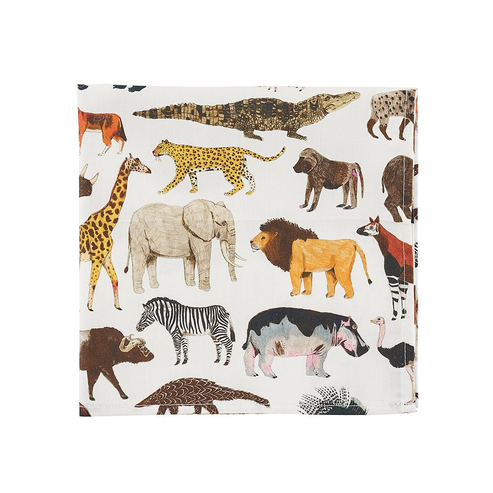Animals designer pocket squares by James Barker