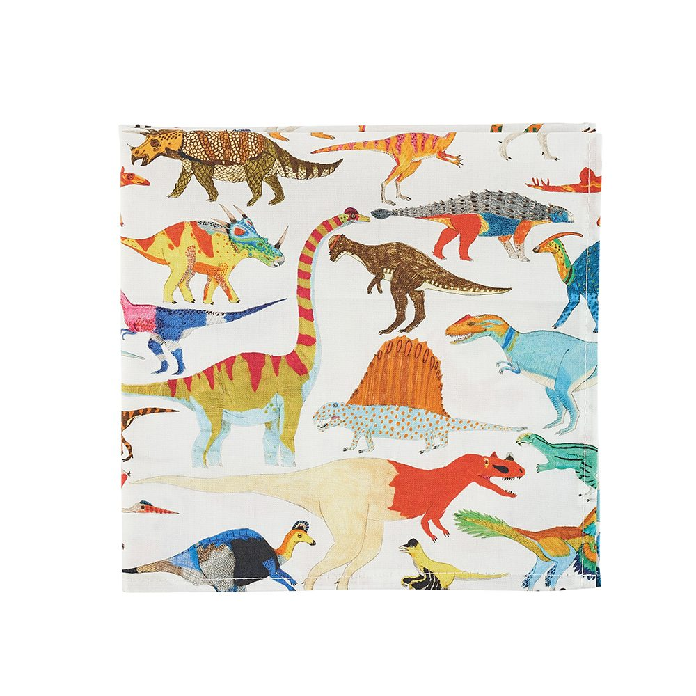 Dinosaurs designer pocket squares by James Barker