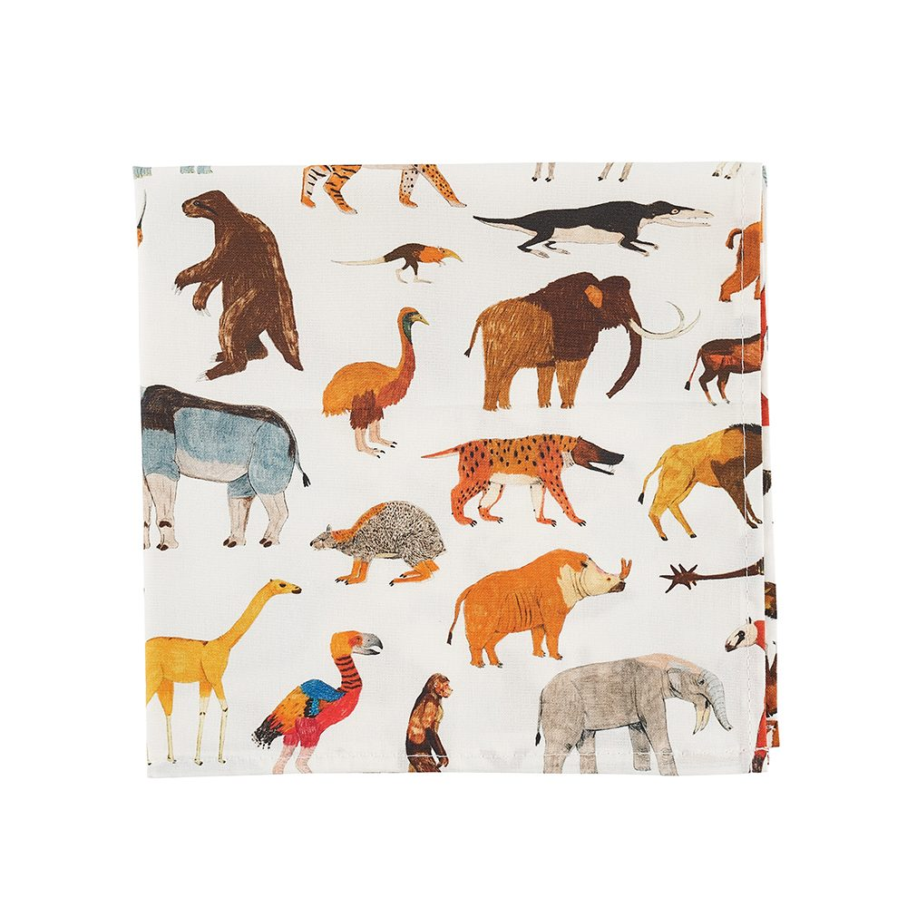 Animals designer pocket square by James Barker