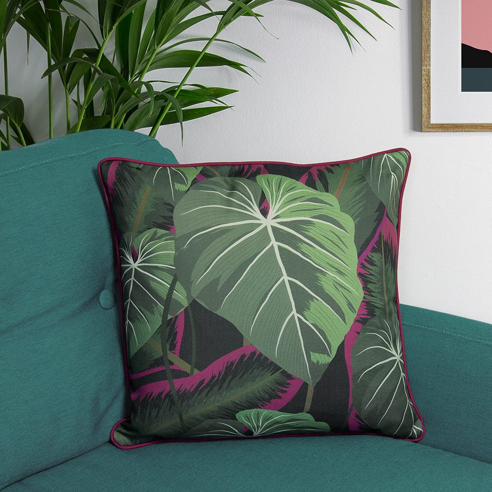 Jungle print designer cushions