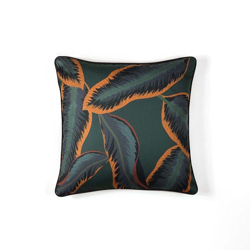 Tropical midnight print designer cushions