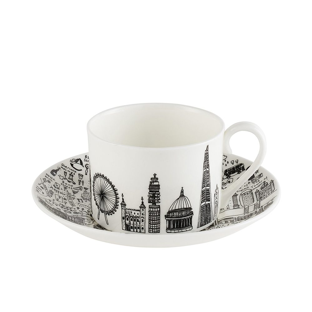 Designer homeware - Central London cup and saucer set