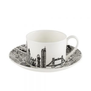 Designer homeware - East London cup and saucer set