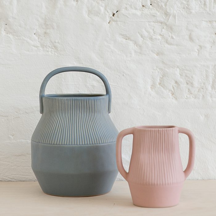 Designer homeware - two Epoch vases