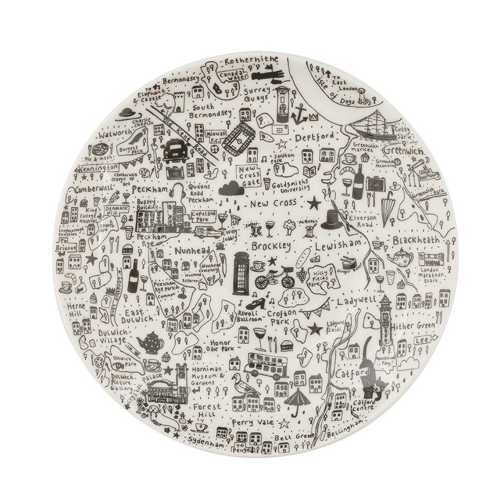 Designer homeware - South East London cup and saucer set detail
